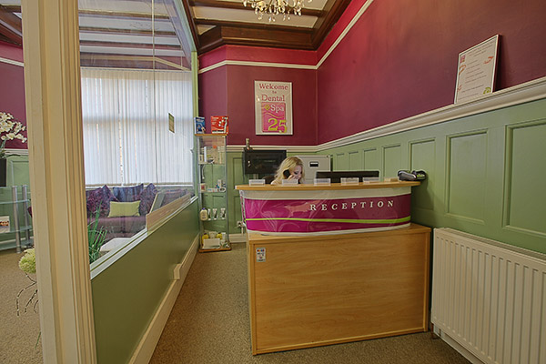 Reception area at Dental Spa 25