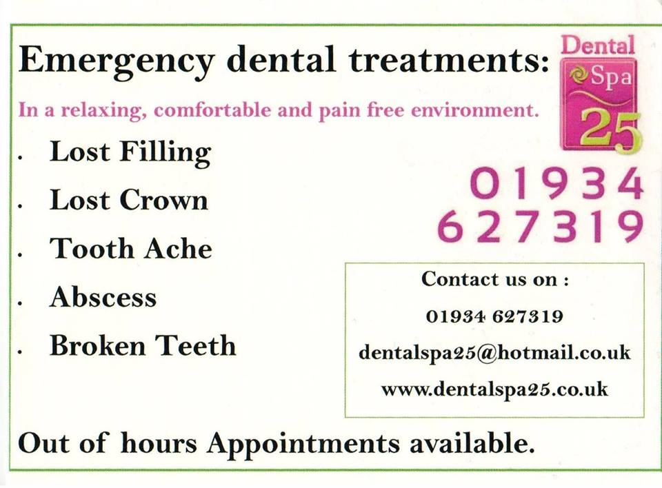 emergency appointment advert